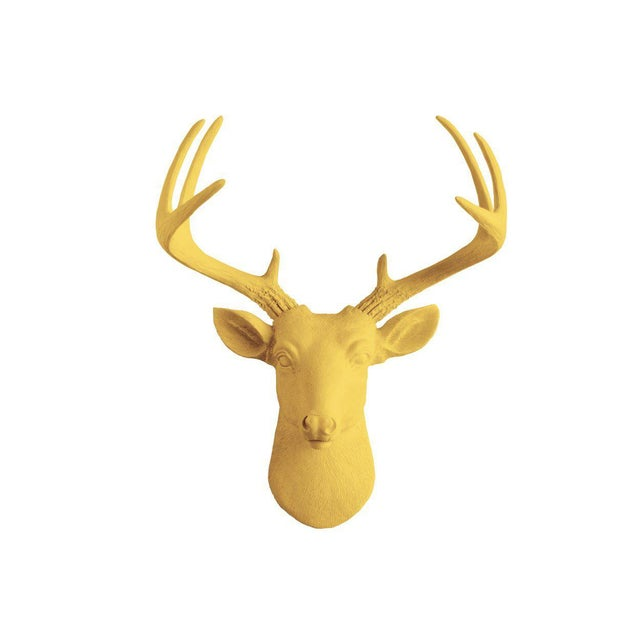 Wall Charmers Curry Orange Faux Taxidermy Mini Deer Head Mount - Image 4 of 4