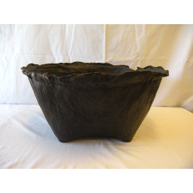 Lombock Island Leather Grainery Vessel - Image 2 of 3