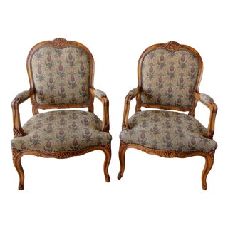 Pineapple Tapestry Bergere Style Game Chairs- Set of 4