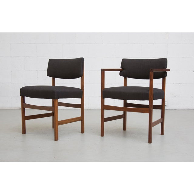 Masculine Danish Mid-Century Dining Chairs - 6 - Image 4 of 11