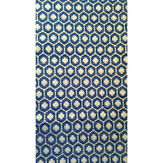 Robert Kaufman Blue Gold Imperial Fabric - 3.5 Yds - Image 1 of 4