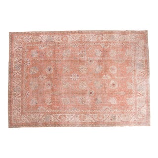 "Distressed Vintage Oushak Carpet - 7'9"" x 11'3"""