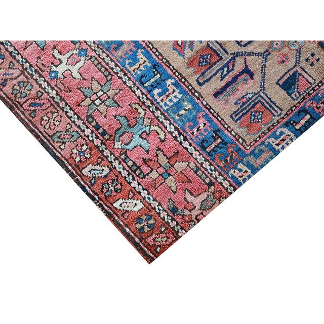 """Antique Persian Sarab Runner Early 1900's - Size 3'4"""" X 11'3"""" - Image 3 of 4"""