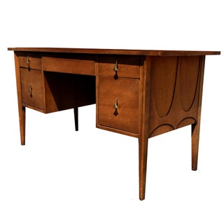 Broyhill Basilia Mid-Century Walnut Desk