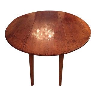 Antique Wood Drop-Leaf Dining Table