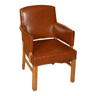 Mid-Century Brown Leatherette Chair