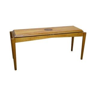 Henredon Satinwood Inlaid Console Table