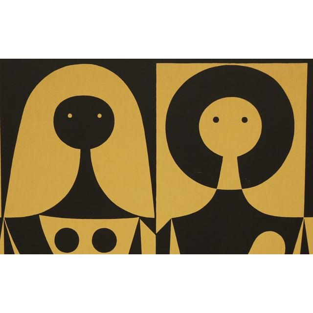 "Alexander Girard Man Woman ""Environmental Enrichment Panel"" Fabric Art, 1971 - Image 2 of 6"