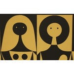 "Image of Alexander Girard Man Woman ""Environmental Enrichment Panel"" Fabric Art, 1971"