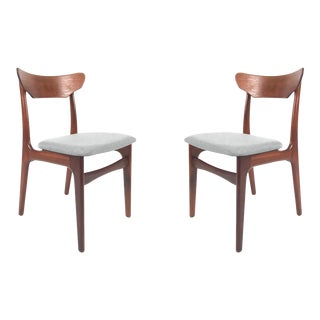 Vintage Danish Teak Dining Chairs - A Pair