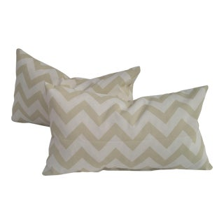 Chevron Design Indoor & Outdoor Pillows - A Pair