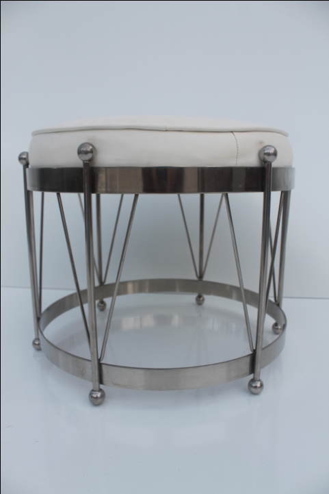 George Koch Mid-Century Vinyl u0026 Chrome Drum Stool - Image 2 of 11  sc 1 st  Chairish & George Koch Mid-Century Vinyl u0026 Chrome Drum Stool | Chairish islam-shia.org