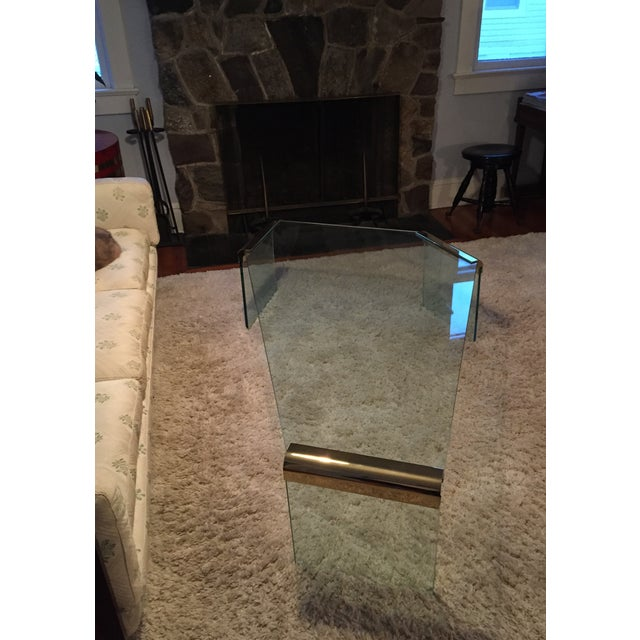 Leon Rosen Pace Collection Glass Coffee Table - Image 6 of 8