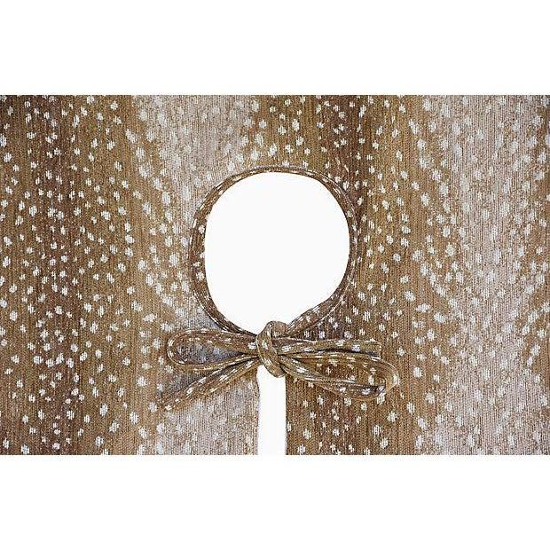 """X-Large 55"""" Custom Tailored Deer Fawn Velvety Chenille Christmas Tree Skirt - Image 7 of 9"""