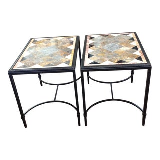 Theodore Alexander Lozenge End Tables - A Pair