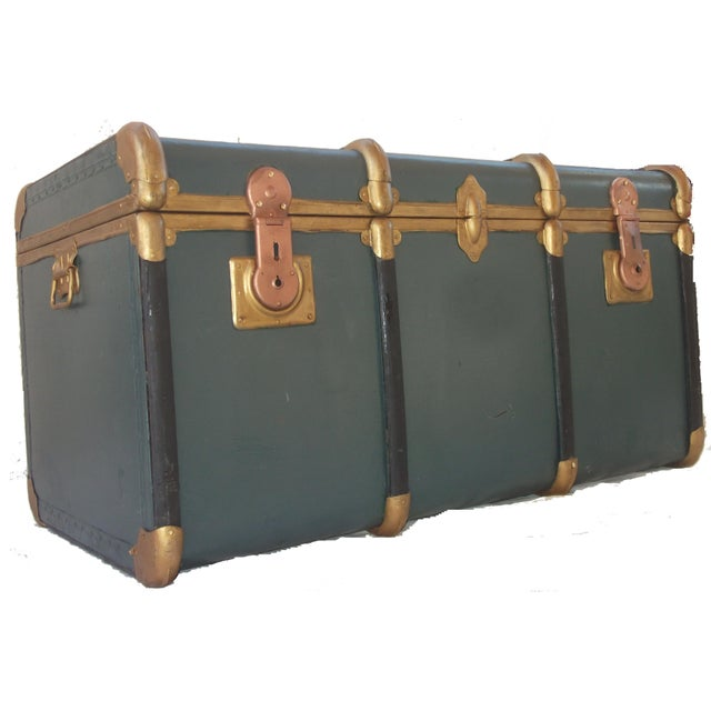 Vintage Italian Made Outer Rib Trunk - Image 1 of 4