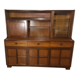 Mid Century Teak Buffet and Hutch by Nathan