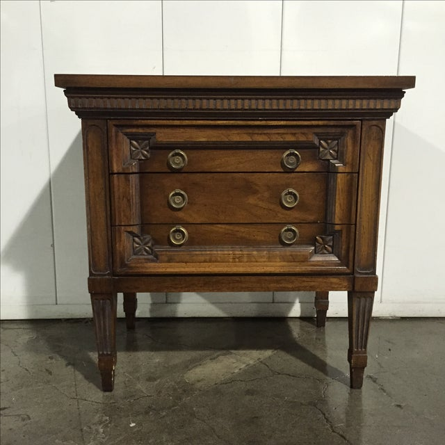Vintage English Inspired Nightstand - Pair - Image 6 of 6