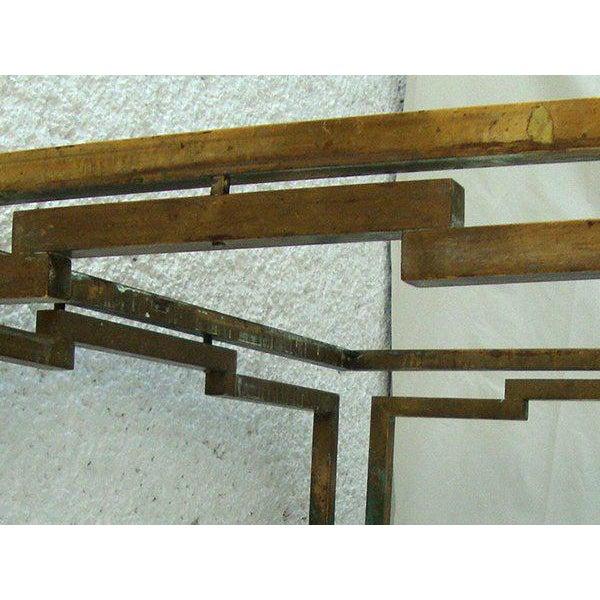 Arturo Pani Rectangular Coffee Table in Brass - Image 3 of 5