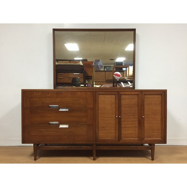 Image of American of Martinsville Dresser and Mirror