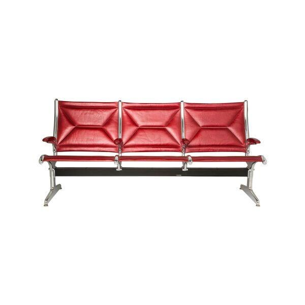Image of Herman Miller Tandem Sling Chairs in Red Leather