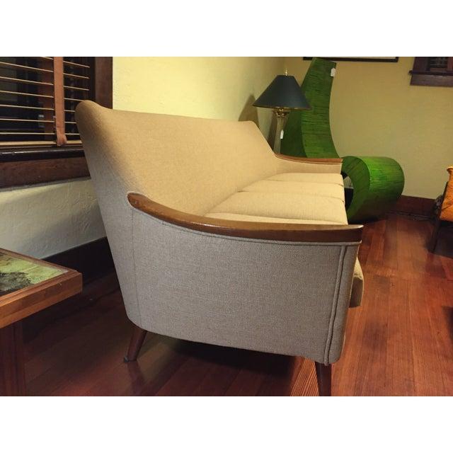 Mid-Century Reupholstered Sofa