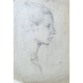 Early 20th Century Classical Portrait Drawing