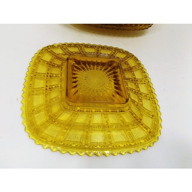 Image of Imperial Depression Glass Lunch Plates - Set of 8
