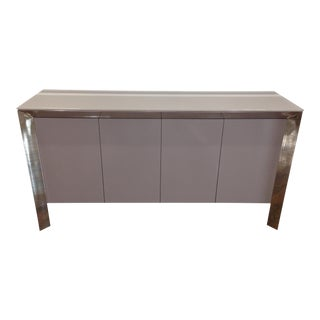 Modern Gray Lacquer Sideboard