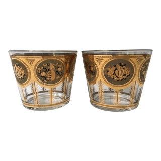 Vintage Mid Century Cera Glass Ice Buckets - A Pair