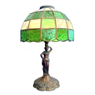 Antique Art Nouveau Tiffany-Style Lamp
