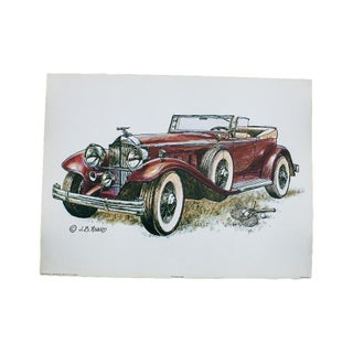Antique Car Drawing