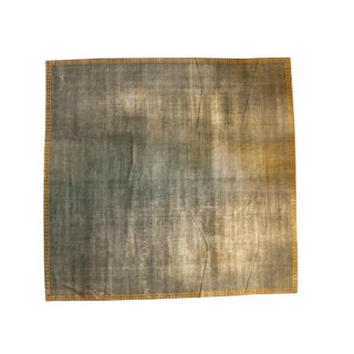 Distressed Indo Arts and Crafts Square Carpet - 12' x 12'2""