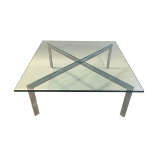Barcelona Coffee Table With X-Chrome Base