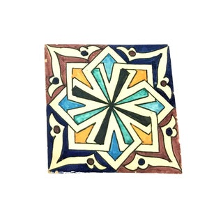 Hand Painted Large Moroccan Decorative Cement Tile