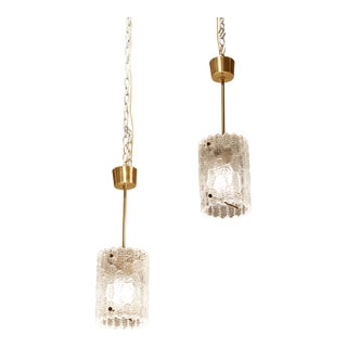 Carl Fagerlund for Orrefores Pendent Lights - A Pair