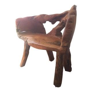 Burlwood Bench Chair