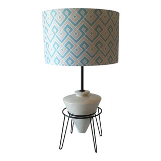 Mid-Century Hairpin Leg Ceramic Lamp