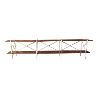 Custom Hand Made Iron & Walnut Console Shelf