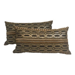 Textured Bolster Pillows - A Pair