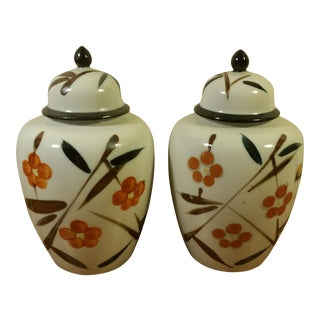 Vintage Japanese Ginger Jars - Set of 2
