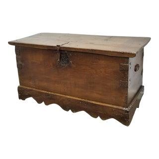 Spanish 19th Century Wood Coffer or Trunk