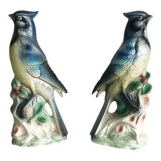 Mid-Century Chinoiserie Ceramic Birds - A Pair
