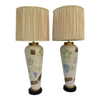 Monumental Vintage Wynn Hotel Lamps - A Pair