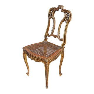 19th-C. Gilt French Chair