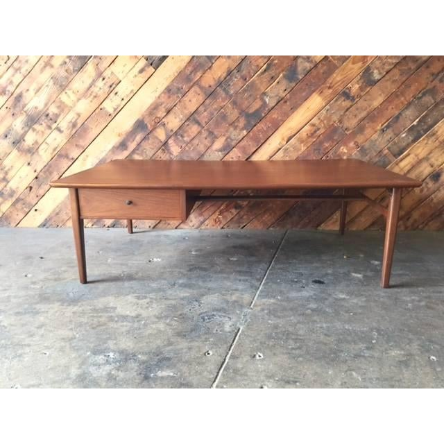 Image of Mid-Century Refinished Walnut Coffee Table