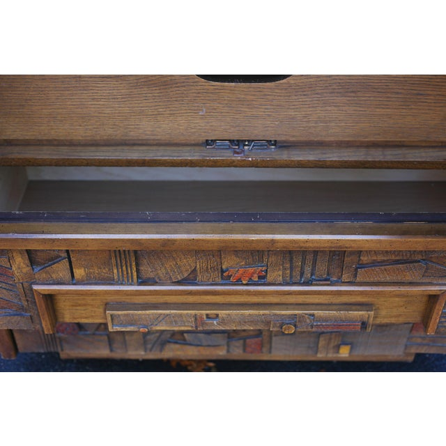 "Image of Lane ""Pueblo"" Brutalist Armoire/Dresser"