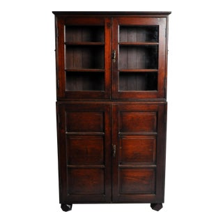 British Colonial Bookcase with Handles