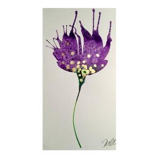 Violet & Gold Botanical Painting