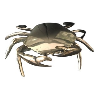 Nautical Articulated Solid Brass Crab Box